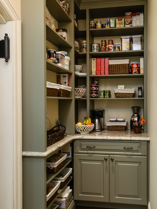 Nice Inspiration For A Timeless L Shaped Kitchen Pantry Remodel In Baltimore  With Beaded Inset Cabinets