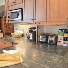 Midcentury Kitchen by RJK Construction Inc