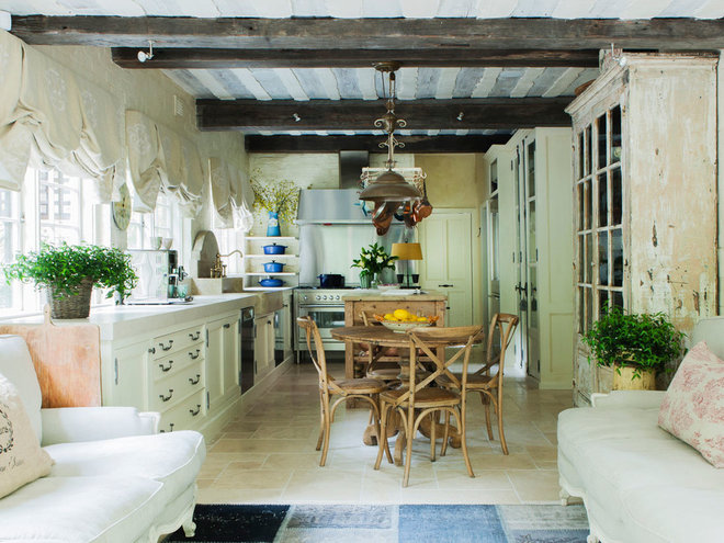 Rustic Kitchen by Marylou Sobel Interior Design