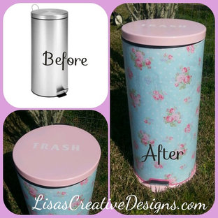A Generic Kitchen Trash Can Gets A Shabby Chic Makeover
