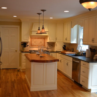 cream kitchen cabinetry far cry from the dark knotty pine kitchen