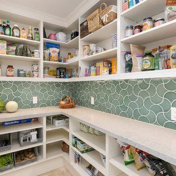 A Graceful White Kitchen in Encinitas