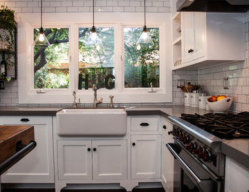 A Kitchen in a Historic Home in Hancock Park, Los Angeles, CA