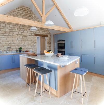 Küche Im Scandi Chic Für Eine Renovierte Scheune In Wiltshire