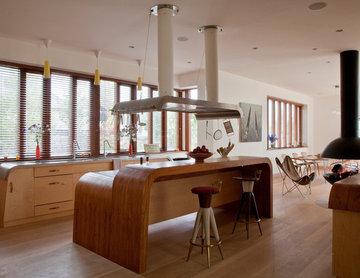 A modern country kitchen