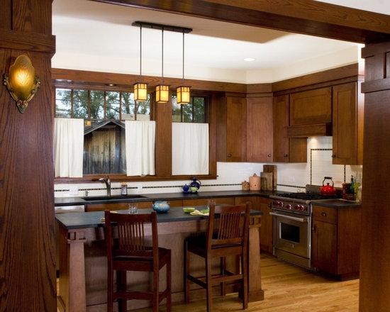 craftsman bungalow kitchen   houzz