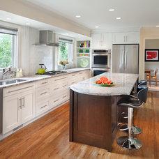 Transitional Kitchen by Anthony Wilder Design/Build, Inc.