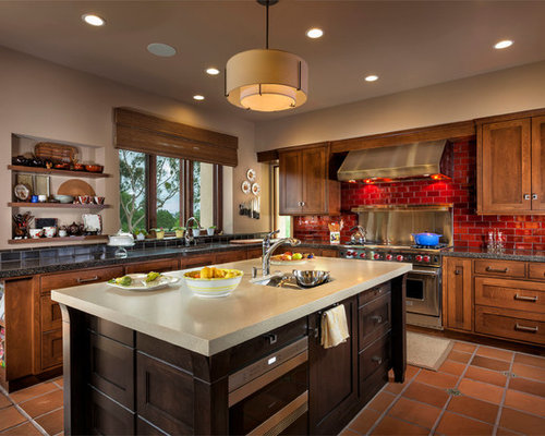 Inspiration For A Transitional L Shaped Kitchen Remodel In Orange County With An Undermount Sink