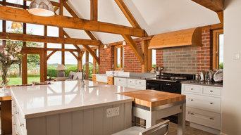 A Selection Of Natural Oak and Painted Kitchen Furniture