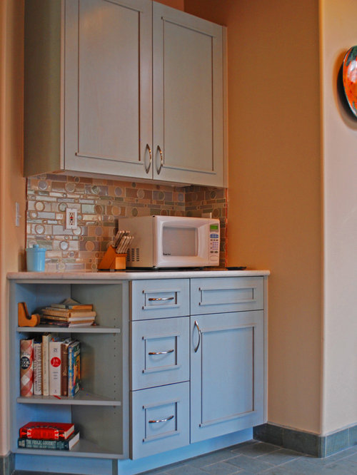 Southwestern kitchen with blue cabinets design ideas for Southwestern kitchen ideas