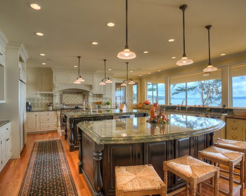 Double island kitchen home design ideas pictures remodel for Dual island kitchen designs