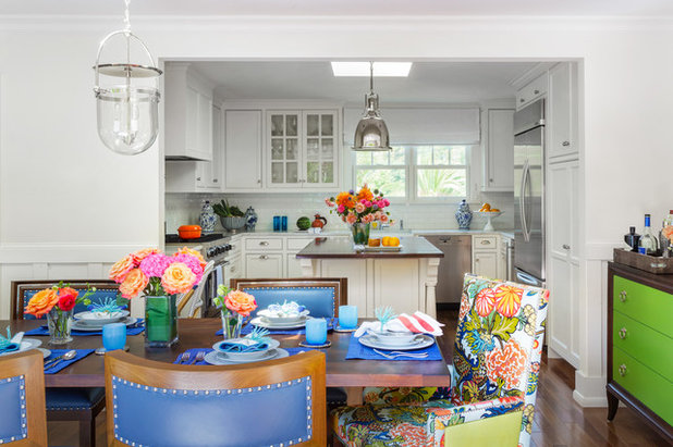 Transitional Kitchen by Ann Lowengart Interiors