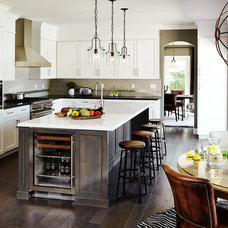 Transitional Kitchen by Kristina Wolf Design