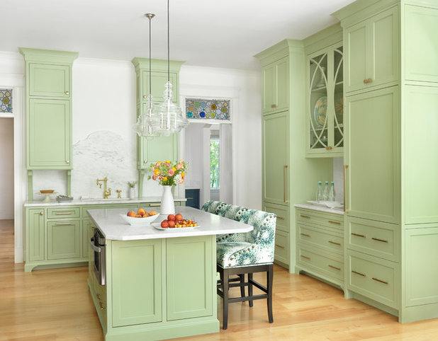 Transitional Kitchen by Amy Studebaker Design