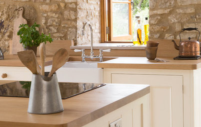 Historic Stone Barn Now a Country Farmhouse Kitchen