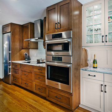 A traditional galley townhome