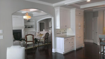 A View between the Kitchen and the Great Room
