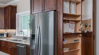A warm family kitchen with plenty of space for homework and get-togethers:)