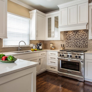 Inspiration For A Mid Sized Timeless U Shaped Dark Wood Floor Kitchen  Remodel In