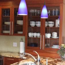 Contemporary Kitchen by Capstone Marble and Granite / Boston