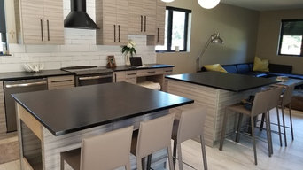 Absolute black granite kitchen