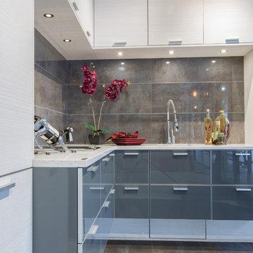 Acrylic - European Laminate Modern Kitchen