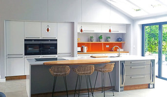 Add a splash of colour to a modern kitchen for a fun look with a retro feel