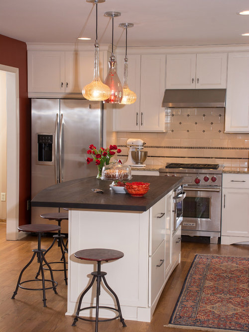 Microwave In Center Island Houzz