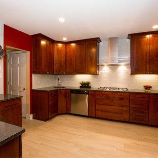 他の地域のアジアンスタイルのおしゃれなキッチン (シルバーの調理設備の) の写真