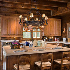 Rustic Kitchen by Log Homes of America