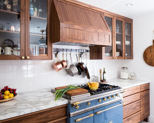 Transitional Kitchen with Terra-Cotta Floors Design Ideas & Remodel Pictures | Houzz