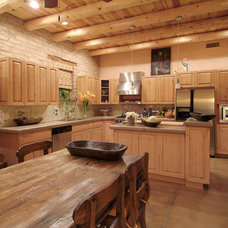 Transitional Kitchen by Stellar Gray Real Estate Services, LLC