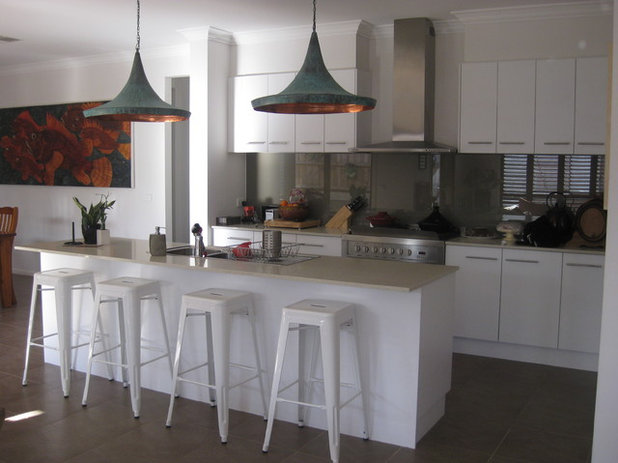 Contemporary Kitchen By Adriana. Adriana. Industrial Pendant Lights