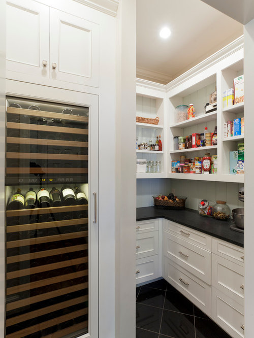 Wine fridge houzz for Building traditional kitchen cabinets by jim tolpin