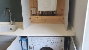 After - inside of boiler cupboard