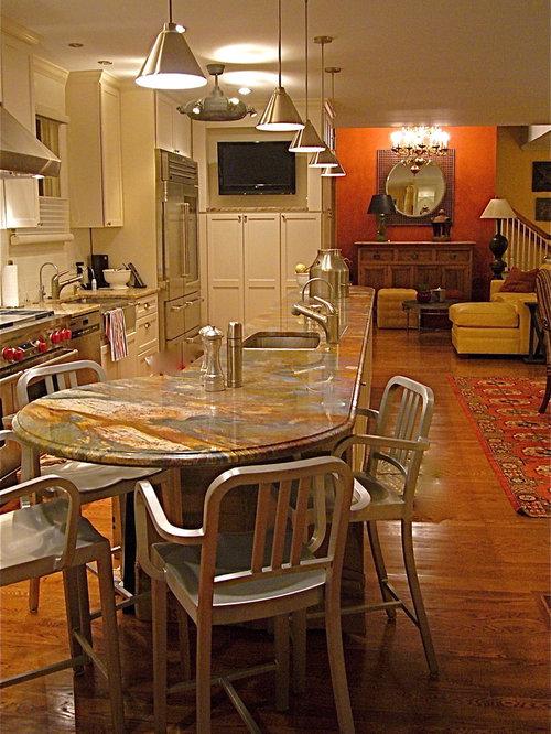 Round Kitchen Island Home Design Ideas Pictures Remodel