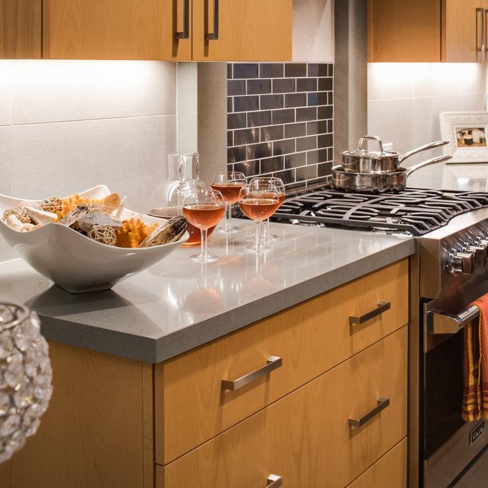 Modern Compact Townhome Kitchen Remodel in Del Cerro!