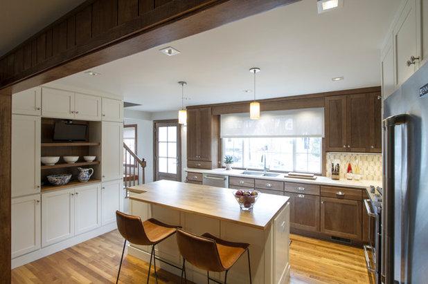 Transitional Kitchen by Princeton Design Collaborative