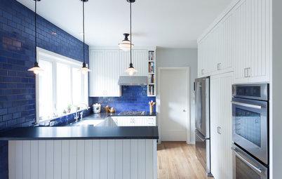 Kitchen Color: 15 Beautiful Blue Backsplashes