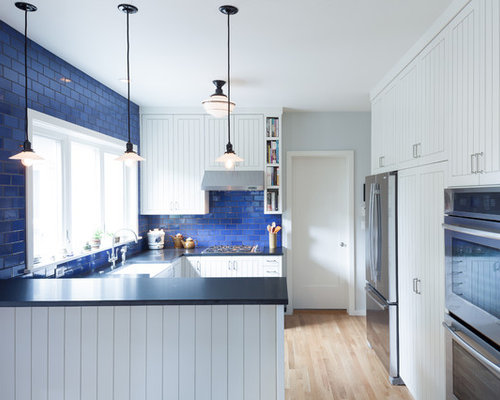 Blue Backsplash Home Design Ideas, Pictures, Remodel and Decor
