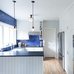 1,716 blue backsplash color integrated sink Kitchen Design Photos