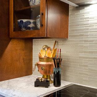 Alamo Heights Asian inspired Condo kitchen in San Antonio by BRADSHAW DESIGNS