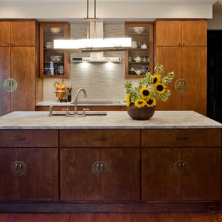 Alamo Heights Asian inspired Condo kitchen in San Antonio by BRADSHAW DESIGNS