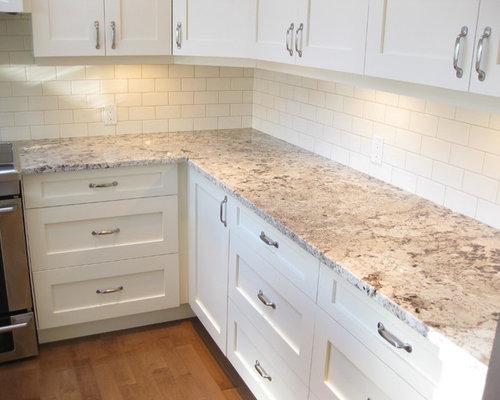 Alaska white granite home design ideas pictures remodel for Ak kitchen cabinets calgary