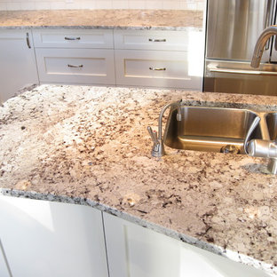 marble kitchen flooring alaska white granite houzz 4012