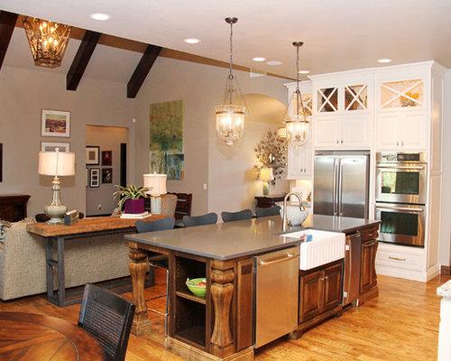 Farmhouse Oklahoma City Kitchen Design Ideas & Remodel Pictures   Houzz
