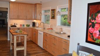 Alder Mid Century Modern Kitchen
