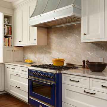 Alexandria, Virginia Transitional Kitchen Design with Intriguing Zinc Accents