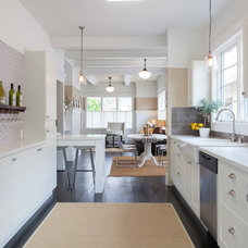 Transitional Kitchen by Import Tile
