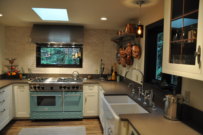 Transitional Kitchen by Ventana Construction LLC